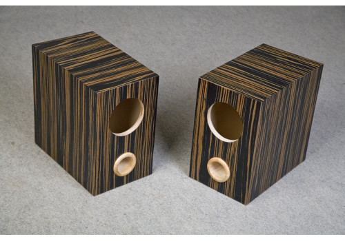 Speaker box for Fostex FE126E pair, ebony, Bass Reflex Type